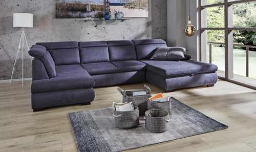 Antracitová sedací souprava do velkého obývacího pokoje