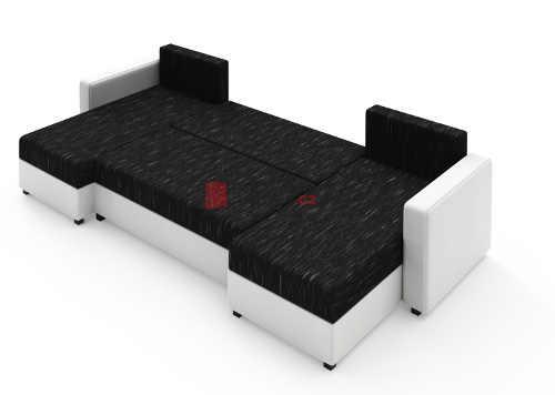Moderní sedací souprava eko kůže-textil