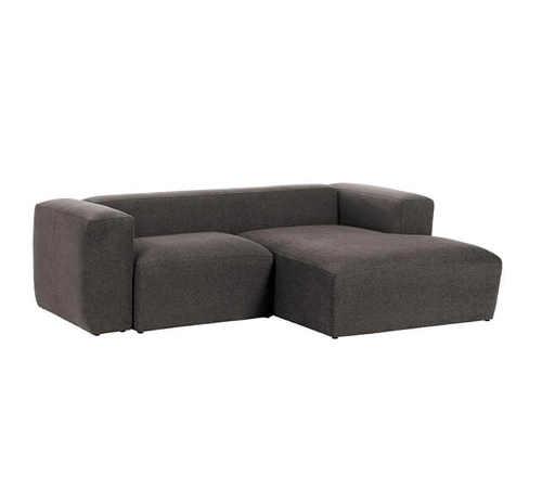 Rohová dvoumístná šedá sedačka