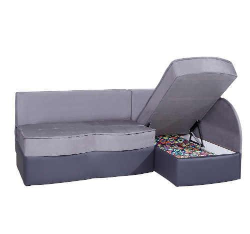 moderní rohová sedačka v působivém vzhledu