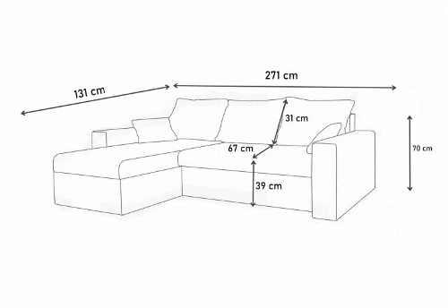praktická sedací souprava v moderním designu