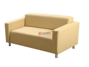 Dvoumístná sedačka z ekologické kůže