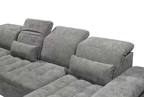 rozkládací čalouněná prošívaná sedačka