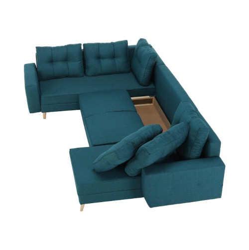 tyrkysová moderní sedací souprava