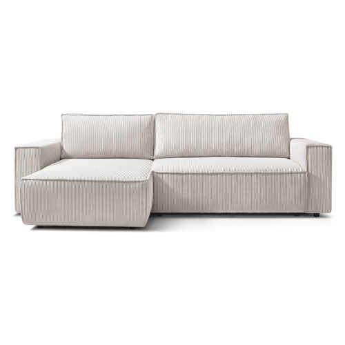 Krémově bílá manšestrová komfortní pohovka