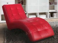 Moderní relaxační lehátko z eko kůže