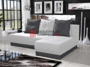 Moderní sedačka v barvě krémové se šedou