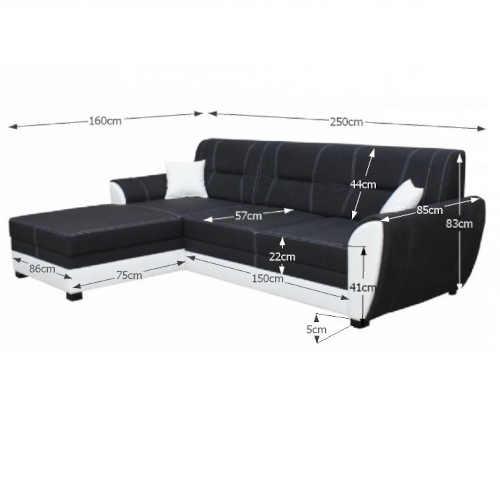 černo-bílá sedačka rozkládací