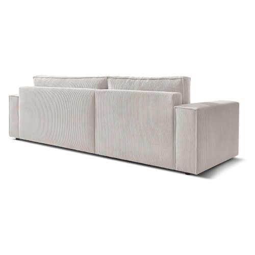 komfortní sedačka čalouněná krémově bílá