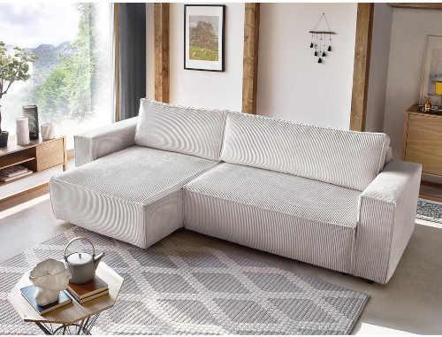 krémově bílá pohodlná manšestrová pohovka