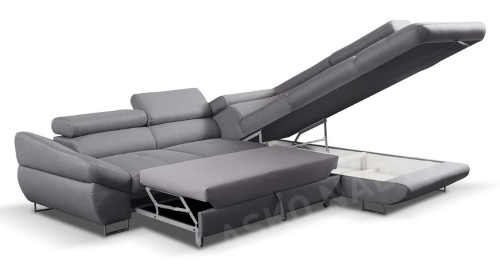 praktická moderní šedá sedačka