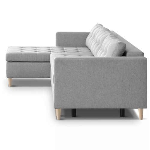 sedačka šedá čalouněná rozkládací