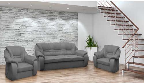 Luxusní set - trojmístná pohovka a 2 křesla