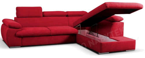 červená sedačka do obýváku