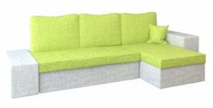 Hranatá rohová rozkládací sedací souprava LINEA v moderních barevných odstínech