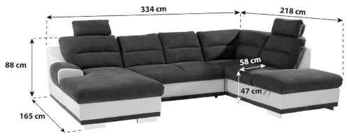 moderní praktická luxusní sedací souprava