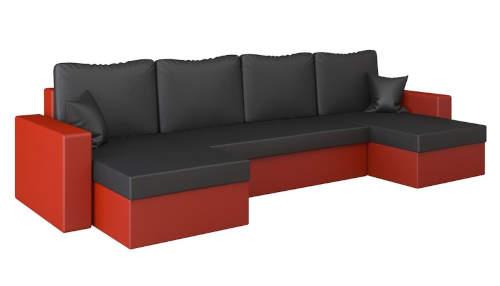 Vyprodej červeno-černá sedací souprava do U