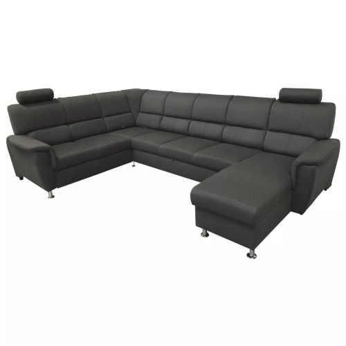 Tmavě šedá prostorná čalouněná sedačka