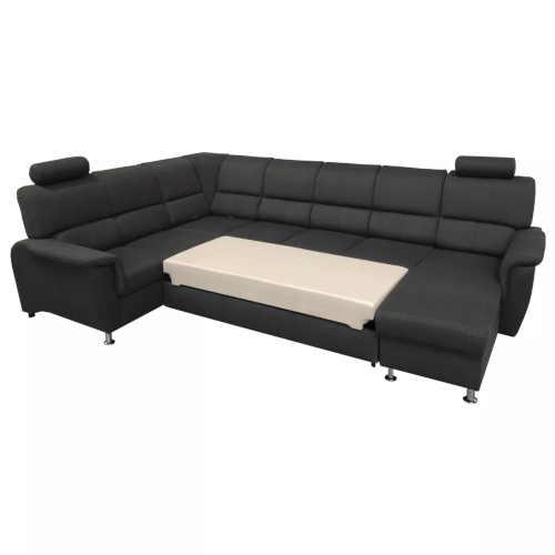 čalouněná tmavě šedá sedačka