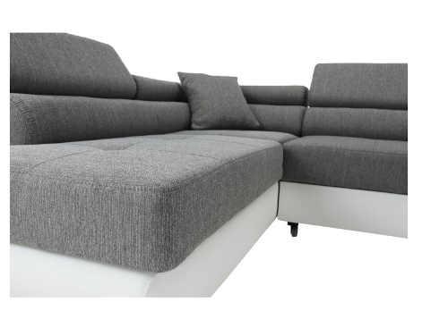 moderní velká sedačka bílo-šedý design