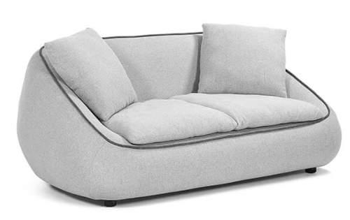 Moderní dvoumístná pohovka světle šedá barva