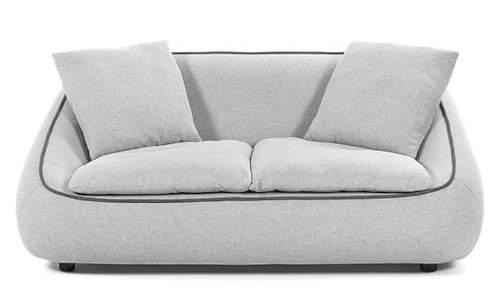Čalouněná světle šedá designová pohovka SAFIRA
