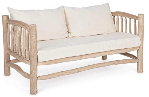 Dřevěná pohovka na chalupu