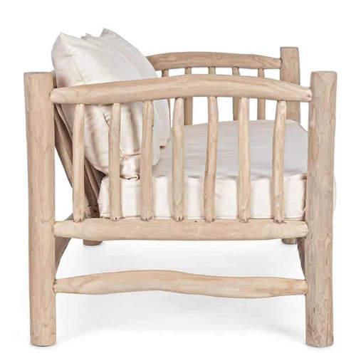 Interiérová pohovka z teakového dřeva