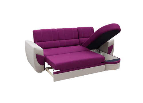 rozkládací sedačka s úložným místem