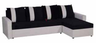 Moderní rozkládací rohová sedačka MENKET s úložným prostorem