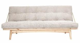 Variabilní dřevěná futonová pohovka Karup Design Folk Raw